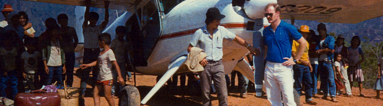 Martin Burnham With Plane