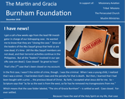August Foundation Letter