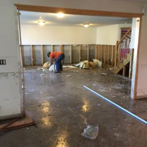 Gracia Burnham's basement after everything has been removed